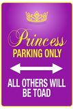 Princess Parking Only Purple Sign Poster Print