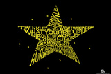 Twinkle Little Star Text Poster