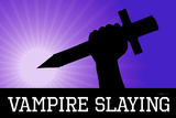 Vampire Slaying Purple Poster Print