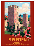 Visby  Sweden - The Town of Ruins and Roses - City Wall