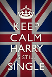 Keep Calm Harry is Still Single Poster