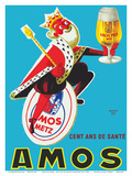Amos Pils Biere (Beer)-Gambrinus  King of Beer - Brasserie Amos  Metz  France