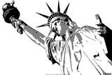 Steez Lady Liberty - BW