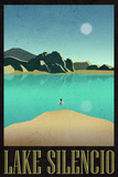 Lake Silencio Retro Travel Poster