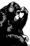 Steez Monkey Thinker BW
