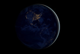 The Earth at Night By Satellite NASA