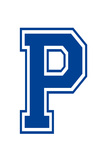 Varsity Letter P Make Your Own Banner Sign Poster