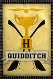 Quidditch Champions House Trophy Yellow Movie Poster Print