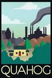 Quahog Retro Travel Poster