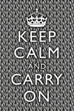 Keep Calm and Carry On Zebra Print Poster