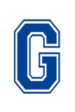 Varsity Letter G Make Your Own Banner Sign Poster
