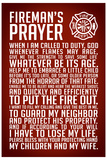 A Fireman's Prayer Art Print Poster