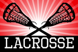 Lacrosse Red Sports Poster Print