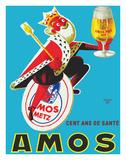 Amos Pils Biere (Beer)-Gambrinus  King of Beer - Brasserie Amos  Metz  France