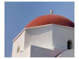 Greece Mykonos Red-Dome Church