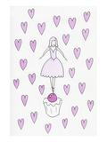 Ballerina Cupcake Hearts