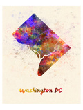 Washington Dc Splatter Skyline