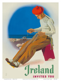 Ireland Invites You - Irishman Weaving Crios Cord Belt