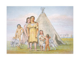 A Comanche Family Outside their Teepee  1841