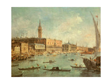 The Doge's Palace and the Molo from the Basin of San Marco  Venice  C1770