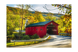 Covered Bridge In The Green Mountains  Vermont