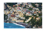 Positano Houses And Beach From Above  Italy
