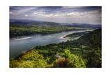Danube River Scenic Panorma Visegrad  Hungary