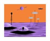 Aliens Orange Sky