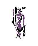 Greek Woman in Purple with Urn