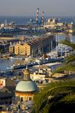 Genoa Port Italy