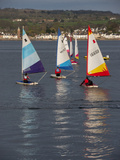 Sailing Boats On Exe Estuary England