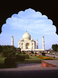 Taj Mahal Through Ornate Arch