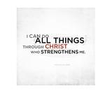Philippians 4 13 Scripture Art  II