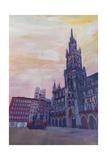 Munich City Hall and St Marys Place