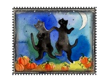 Dancing Black Cats Halloween