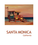 Santa Monica Venice California Beach Scene Poster