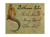 Bathroom Rules Vintage Mermaid