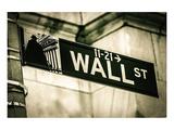 Wall Street Sign New York City