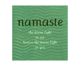 Namaste with Blue Waves
