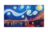 Starry Night in Cologne - Van Gogh Inspirations