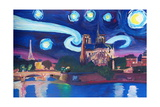 Starry Night in Paris - Van Gogh Skyline