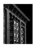 Monadnock Building Cornice Chicago BW