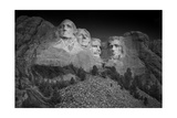 Mount Rushmore South Dakota Dawn BW