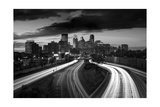 Minneapolis M N Skyline BW