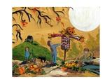 Making A Scarecrow Autumn Season