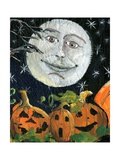 Pumpkin Patch Halloween Full Moon Face