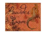Scarlet Vintage Mermaid Powder Room