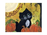 Welcome Halloween Black Cat