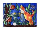 Cat Birdbath