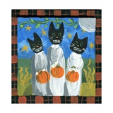 Folk Art Black Cats Halloween